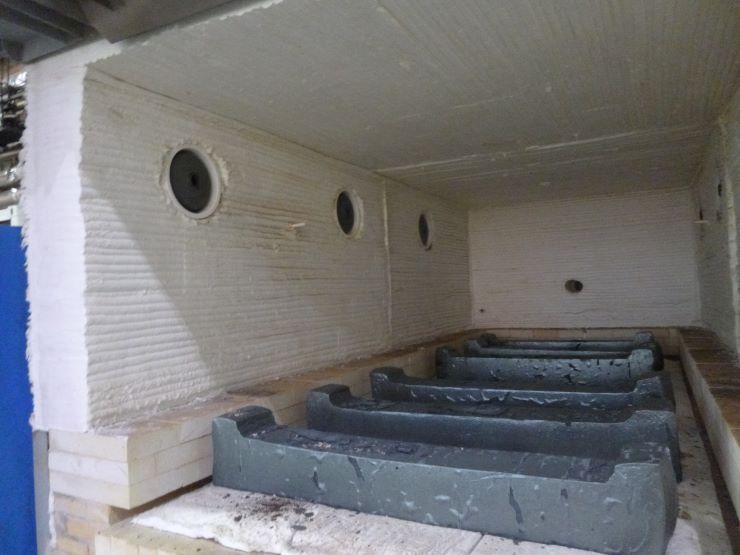 Печь камерная с выкатным подом