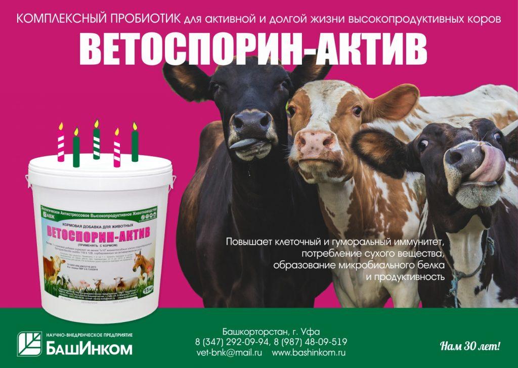 Уникальный биопрепарат-пробиотик Ветоспорин Актив
