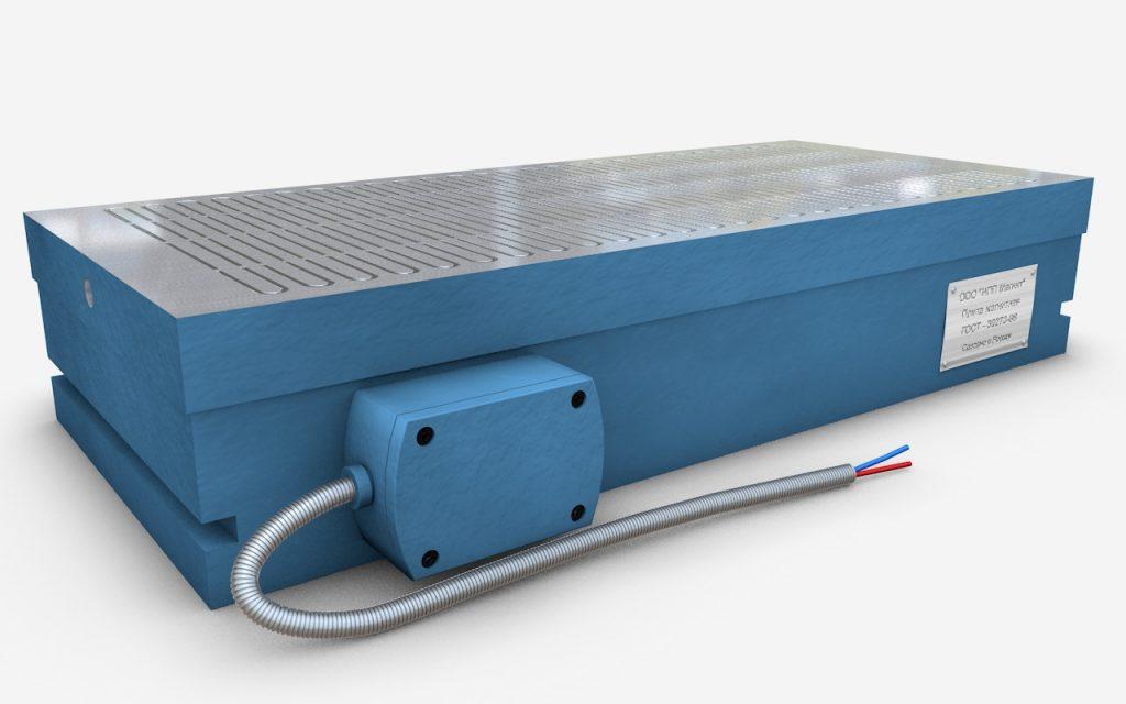 Плиты прямоугольные электромагнитные мелкополюсные с продольным и поперечным расположением полюсов