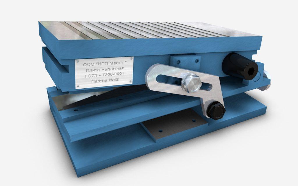 Плиты магнитные прямоугольные синусные серии 7208
