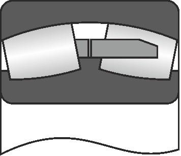 роликовые сферические подшипники (РСП) с асимметричными роликами серий 3000, 3003000